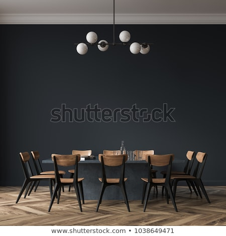 Moderne interieur eetkamer licht ontwerp tabel Stockfoto © Elnur