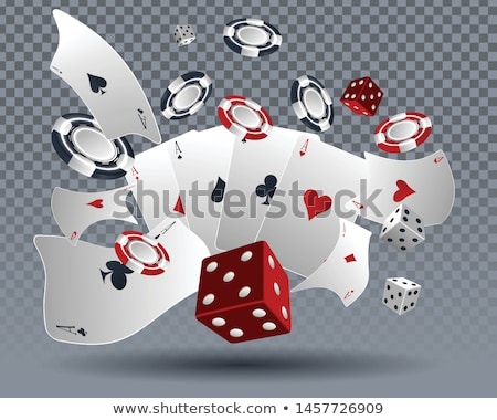 Red gambling chip with heart sign on it. 3D Stock photo © djmilic