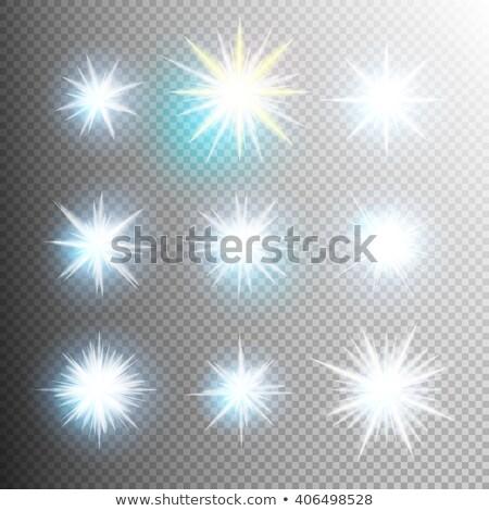 kolekcja · wektora · efekty · świetlne · przezroczysty · flash · światła - zdjęcia stock © beholdereye