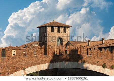 中世 · 古い · 城 · ヴェローナ · イタリア · 建物 - ストックフォト © alessandro0770