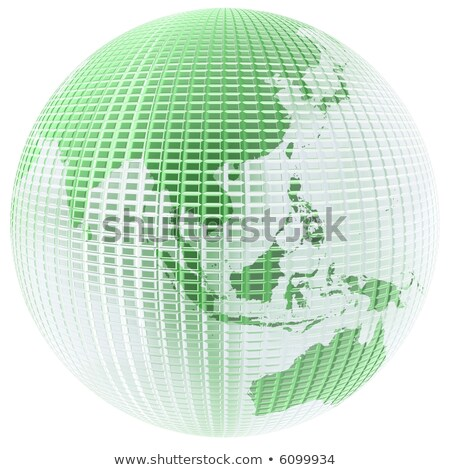 Clear glass globe 3D illustration Asia & Australia map Stock photo © 7Crafts