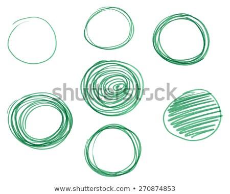 Szett kézzel rajzolt körök vektor logoterv elemek Stock fotó © JeksonGraphics