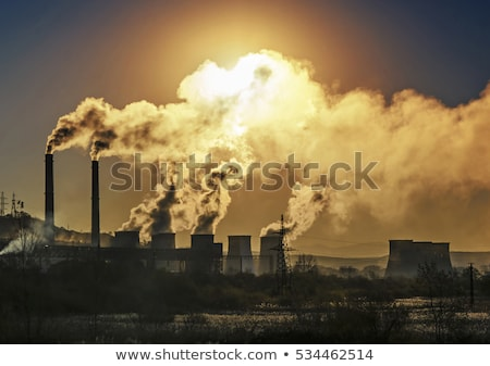 Scène usine eau pollution illustration paysage Photo stock © bluering