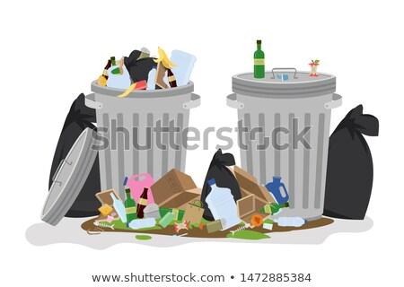 мусор · улице · иллюстрация · продовольствие · стены - Сток-фото © bluering