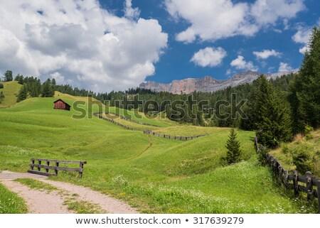 Mikulás templom dél természet tájkép hegy Stock fotó © Antonio-S