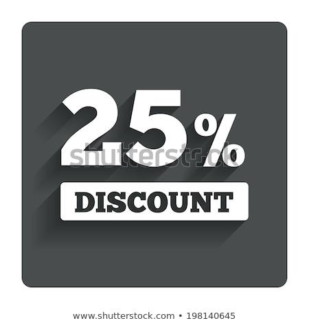 vinte · cinco · por · cento · imagem · de · vendas · botões - foto stock © timurock