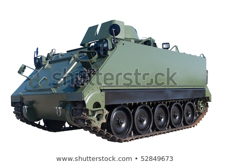 Military Tank Isolated. Armoured Fighting Vehicle Stock photo © robuart