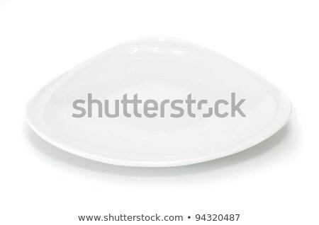 Piazza bianco dessert piatto antipasto Foto d'archivio © Digifoodstock