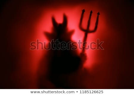 Diable rouge feu illustration fond art Photo stock © bluering
