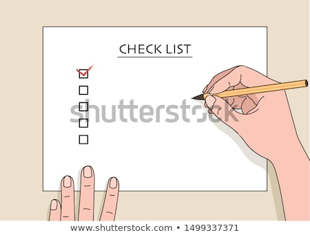 checklist text with drawings graphics stock photo © wavebreak_media