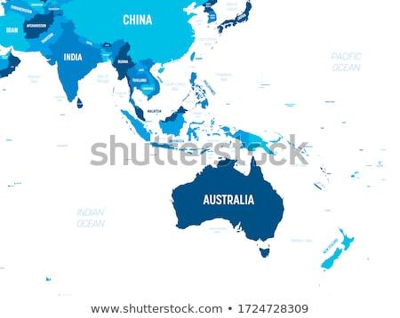 Азии Океания карта 3d иллюстрации изображение сеть Сток-фото © idesign