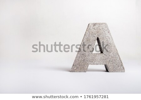 font design with rock texture stock photo © bluering