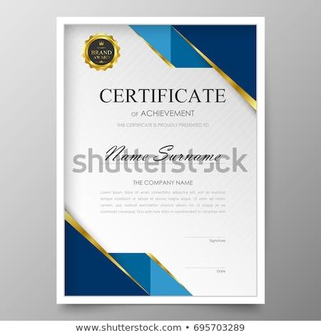 Stockfoto: Premie · certificaat · ontwerp · vector · sjabloon · studie