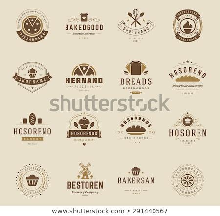 Fırın alışveriş amblem etiketler logo tasarımı elemanları Stok fotoğraf © Leo_Edition