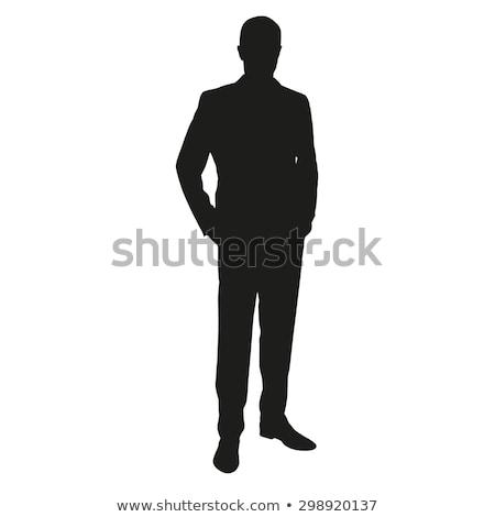 Férfi áll iroda középkorú üzletember portré Stock fotó © filipw