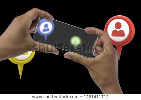 Kép üzletember tart átlátszó interfész fehér Stock fotó © wavebreak_media
