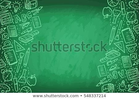 back to school illustration on a notepad background stock photo © m_pavlov