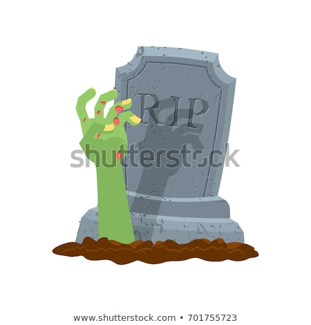 Halloween grave main zombie pierre tombale bras Photo stock © MaryValery