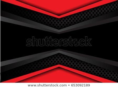 business · brochure · Rood · zwarte · driehoek · vorm - stockfoto © SArts