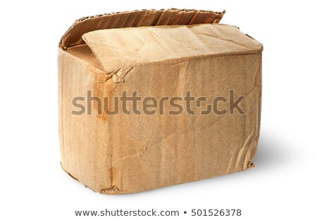 On top worn old cardboard box Stock photo © Cipariss