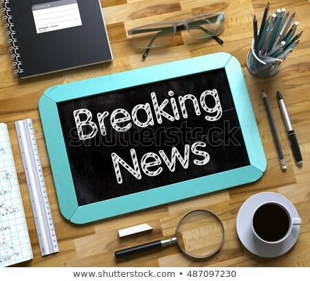 rendkívüli · hírek · főcím · újság · papír · kommunikáció · magazin - stock fotó © tashatuvango