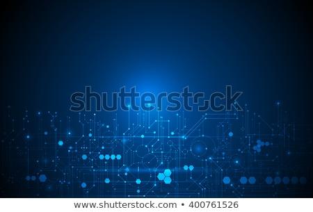 Absztrakt technológia nyáklap hálózat vonalak háló Stock fotó © SArts