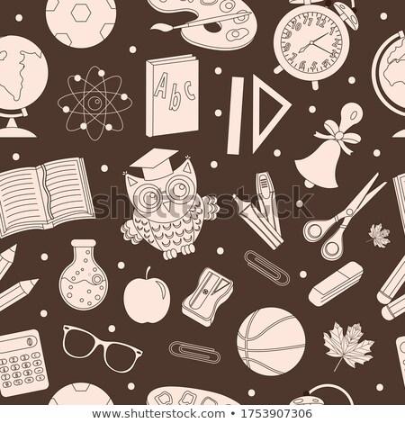 Okula geri el çizim karalama stil Stok fotoğraf © lucia_fox