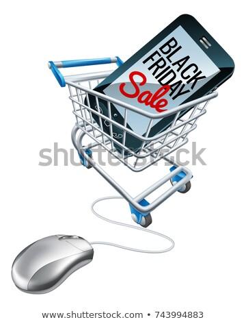 Black Friday Sale Phone Trolley Mouse Sign Stock photo © Krisdog