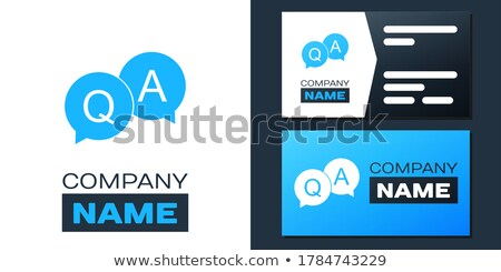 card file with qa stock photo © tashatuvango