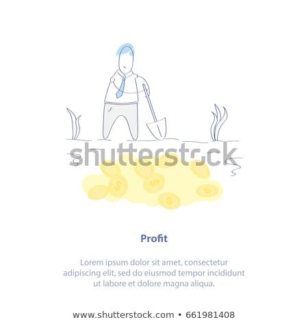 Karikatür adam bakıyor yeraltı para zemin Stok fotoğraf © blamb