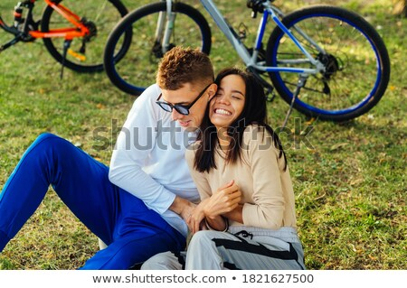 Young woman tickling girl with leaf Stock photo © IS2