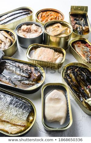 краба мяса алюминий можете иллюстрация продовольствие Сток-фото © bluering