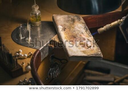 çalışmak kuyumcu takı atölye Metal portre Stok fotoğraf © blanaru