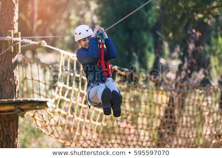 meisje · klimmen · avontuur · park · jong · meisje · zomer - stockfoto © fotoyou