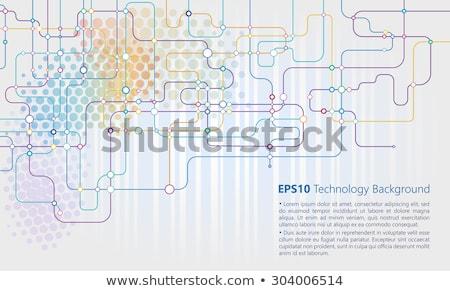 vector circuit network diagram technology background design Stock photo © SArts