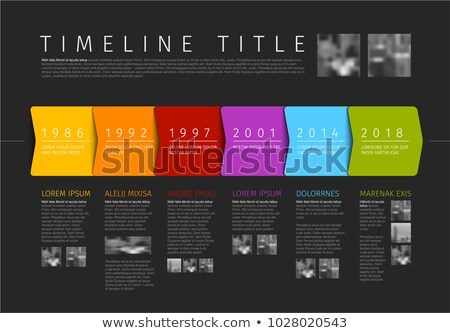Vector colorful Infographic timeline report template with additional texts and photos Stock photo © orson