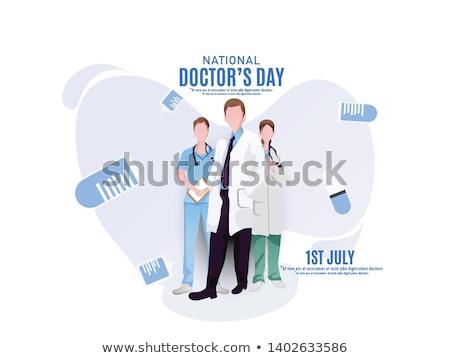 Сток-фото: карт · счастливым · врачи · день · иллюстрация · летию