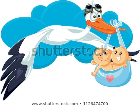 Two birds deliver baby girls Stock photo © bluering