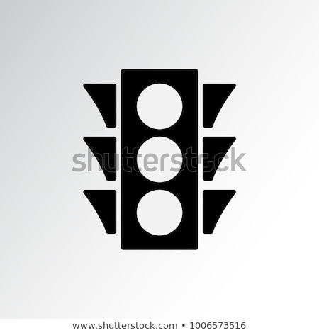 vector icons of traffic light isolated on white background Stock photo © freesoulproduction