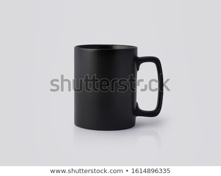 blanco · vajilla · establecer · vacío · taza · negro - foto stock © restyler