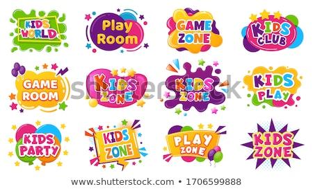 Bright cartoon labels, vector illustration. Stock photo © kup1984