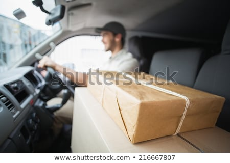 Three people in a van smiling Stock photo © IS2