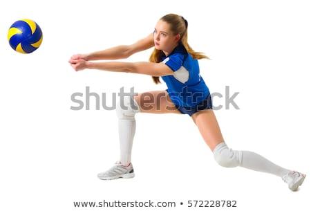 白人 白 スポーツマン 演奏 バレーボール 男性 ストックフォト © RAStudio