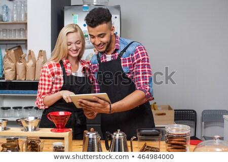 Male staff using digital tablet at counter Stock photo © wavebreak_media
