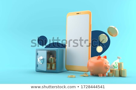 Online Banking on a smart phone. Concept illustration Stock photo © alexmillos