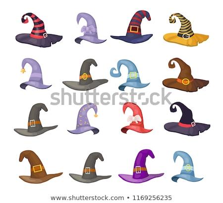 魔女の帽子 アイソメトリック 孤立した ハロウィン にログイン 暗い ストックフォト © popaukropa