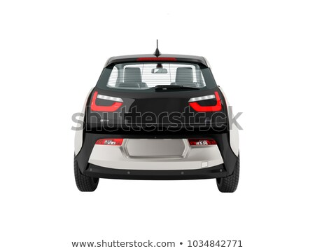 Carro elétrico cinza preto 3d render branco Foto stock © Mar1Art1