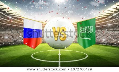 Football match Russia vs. Saudi Arabia Stock photo © Zerbor