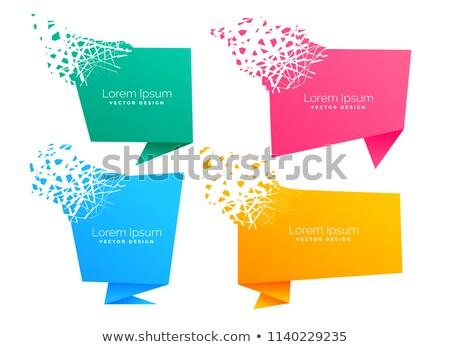 Lege origami chat symbool deeltje effect Stockfoto © SArts