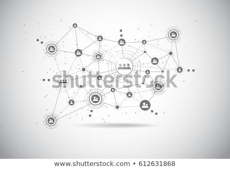 Hálózat közösség társasági hálózatok weboldal kapcsolat Stock fotó © Lightsource